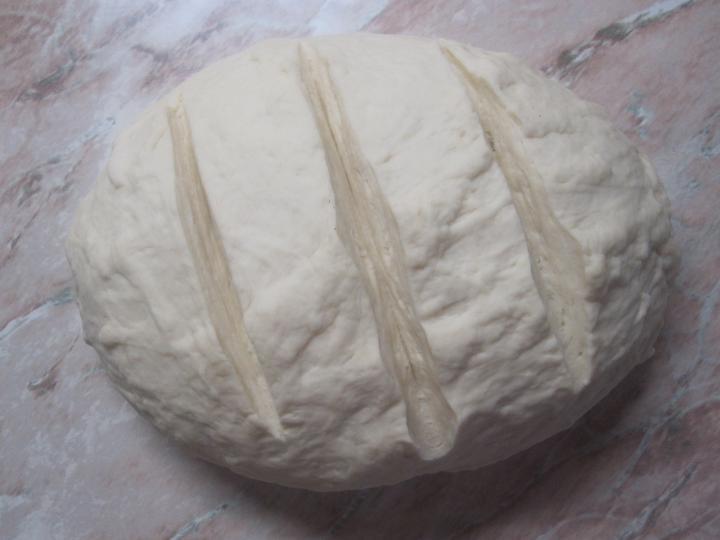 Házi kenyér sütőzacskóban sütve elkészítés 3. lépés képe