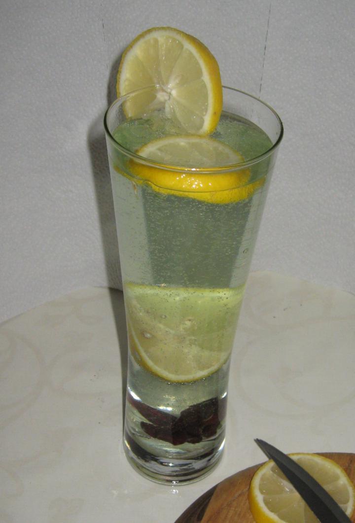 Mentás gin tonic hibiszkusszal elkészítés 3. lépés képe