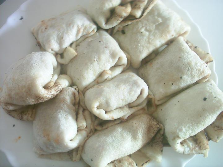 Töltött palacsinta sütőben sütve, fűszeres burgonyával elkészítés 5. lépés képe