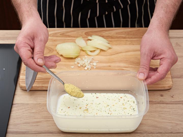 Tejszínes csirkemell sütőben elkészítés 1. lépés képe
