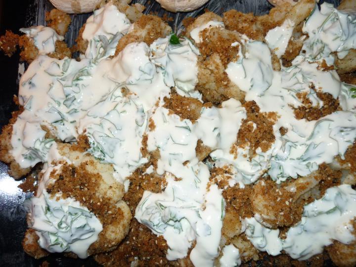 Karfiol sütőbe sütve elkészítés 3. lépés képe