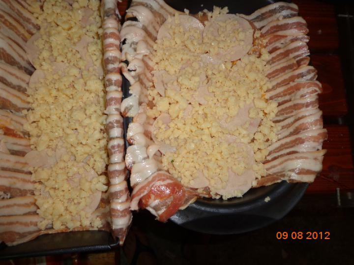 Csirketorta elkészítés 3. lépés képe