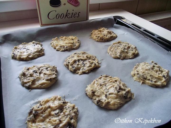 Amerikai cookies elkészítés 3. lépés képe