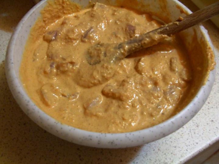 Mogyorós csirke elkészítés 3. lépés képe