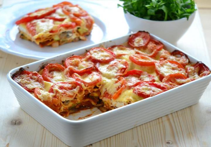 Zöldséges lasagne sonkával és ricottával elkészítés 6. lépés képe
