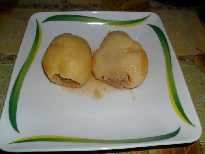 Paradicsomos töltött krumpli elkészítés 7. lépés képe