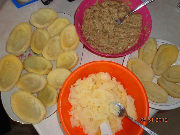 Töltött burgonya elkészítés 1. lépés képe
