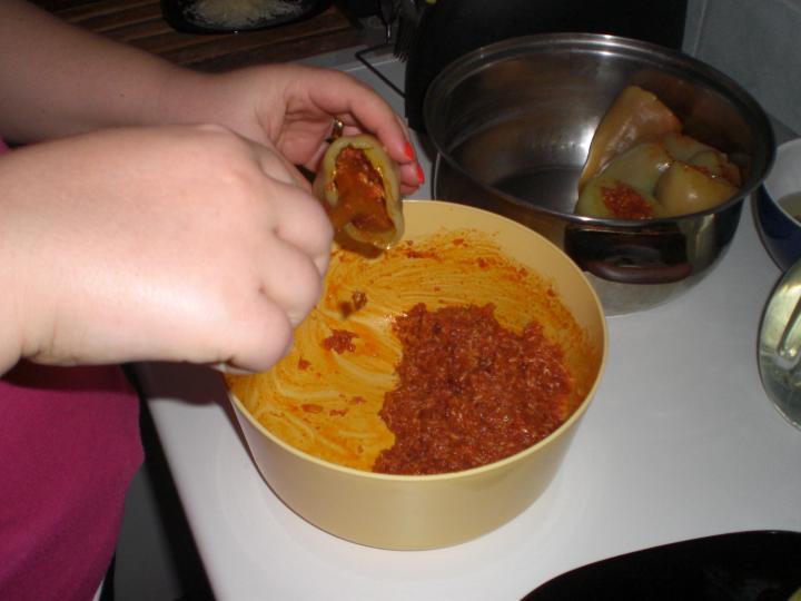 Töltött paprika elkészítés 3. lépés képe