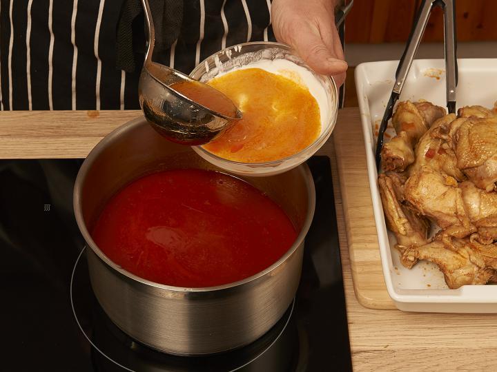 Csirkepaprikás elkészítés 7. lépés képe