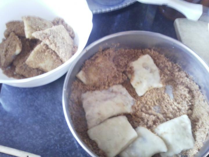 Csokikrémes, burgonyás derelye elkészítés 4. lépés képe