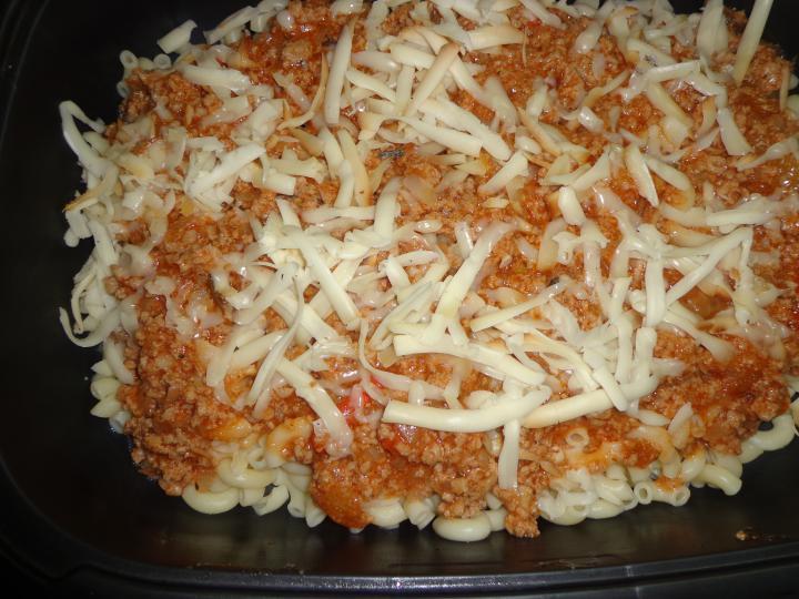 Édes-savanyú bolognai rakott tészta elkészítés 7. lépés képe
