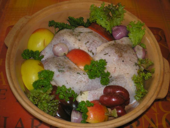 Almás csirkecomb elkészítés 1. lépés képe
