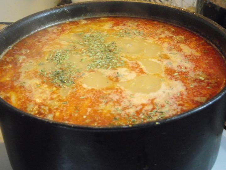 Palócleves marhahússal elkészítés 8. lépés képe