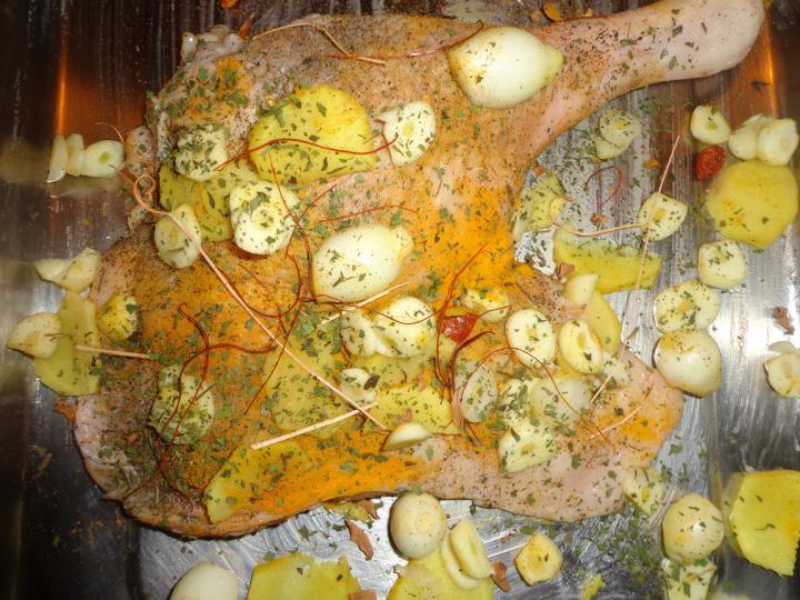 Balinéz sült libacomb Márton napra elkészítés 2. lépés képe