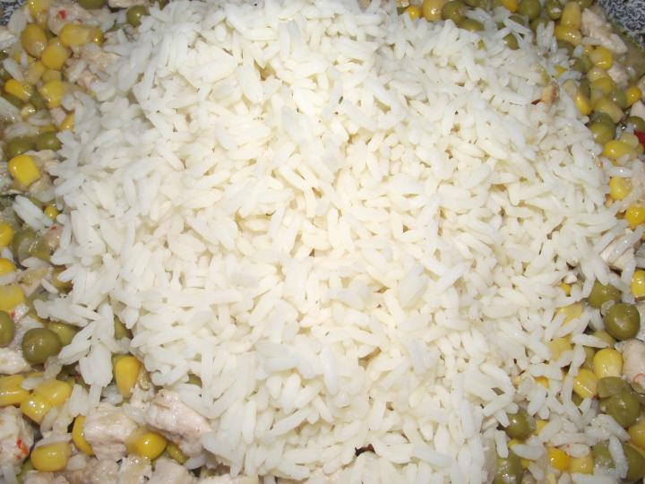 Csirkehúsos rizottó elkészítés 2. lépés képe
