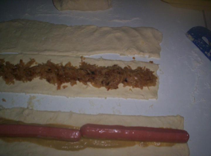 Virslis falatkák elkészítés 2. lépés képe