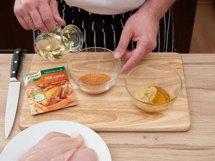 Mézes mustáros pácolt csirkemell elkészítés 1. lépés képe