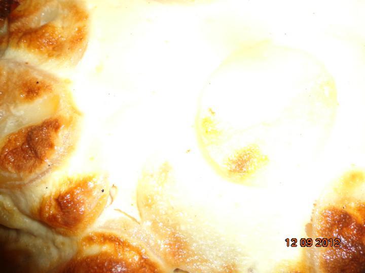 Húsos-lecsós rakott burgonya elkészítés 6. lépés képe