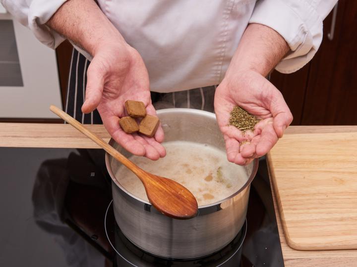 Sárgaborsó főzelék elkészítés 3. lépés képe