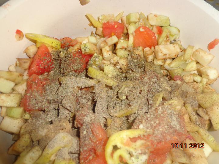 Padlizsános rózsaszín sült tészta elkészítés 3. lépés képe