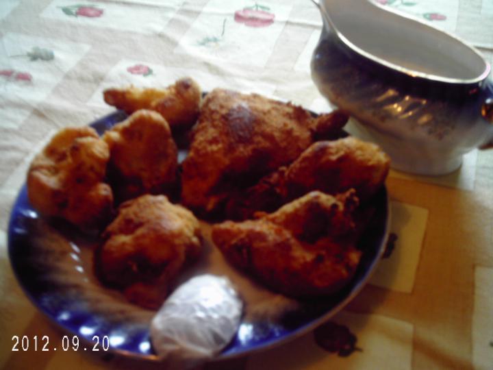 Rántott csirke és karfiol elkészítés 7. lépés képe
