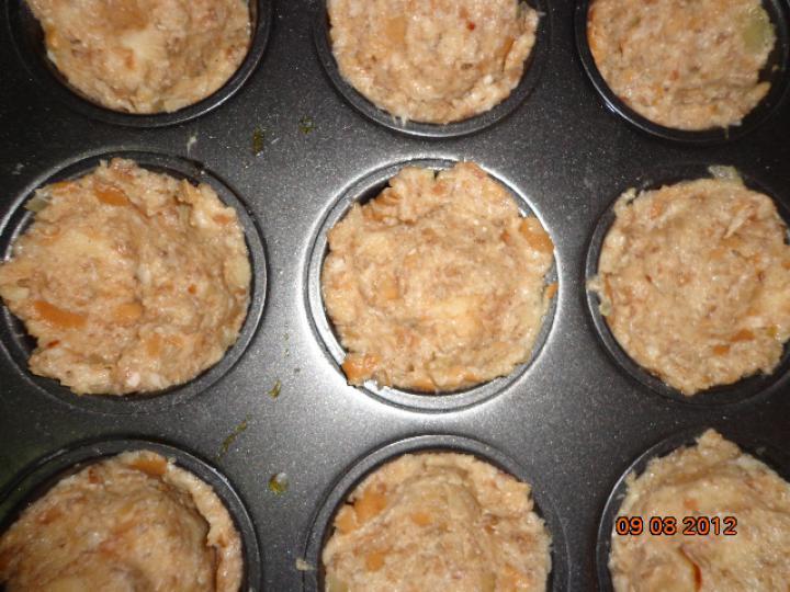 Csirkemájas muffin elkészítés 2. lépés képe