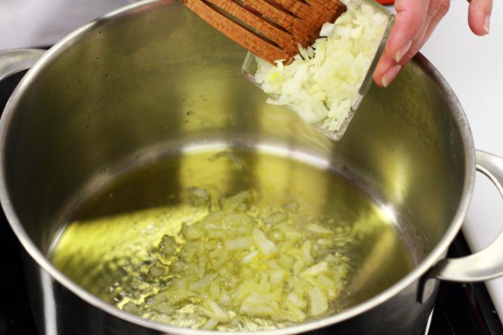 Borsós-sajtos rizottó elkészítés 4. lépés képe