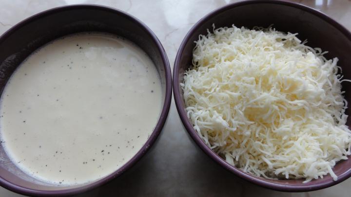 Csőben sült sajtos burgonya elkészítés 2. lépés képe