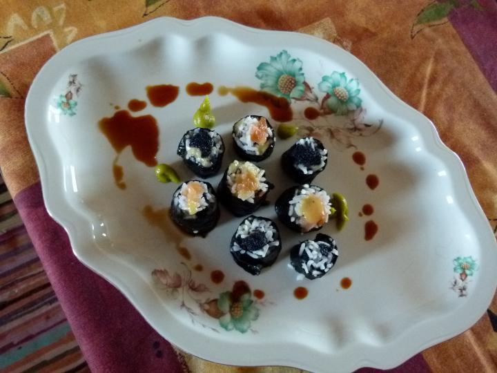 Noémi első sushija elkészítés 3. lépés képe