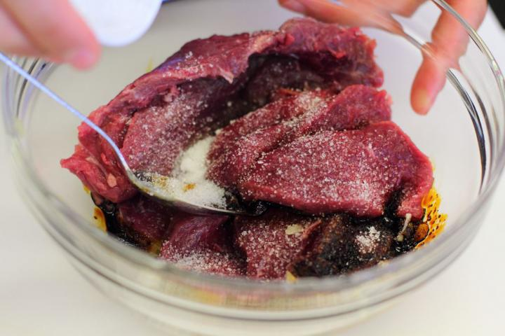 Kínai zöldséges marhahús üvegtésztával elkészítés 1. lépés képe