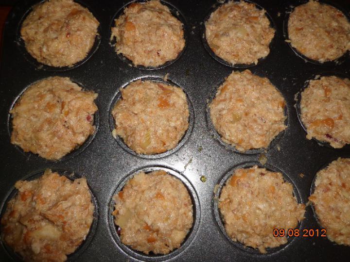 Csirkemájas muffin elkészítés 4. lépés képe