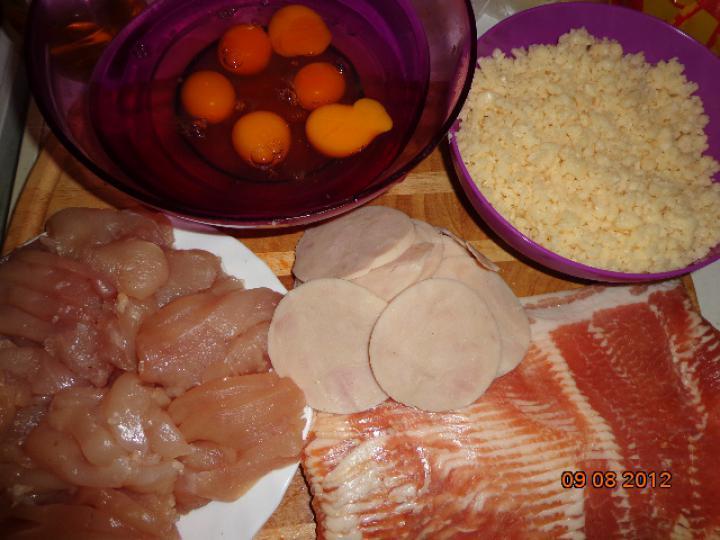 Csirke torta elkészítés 1. lépés képe