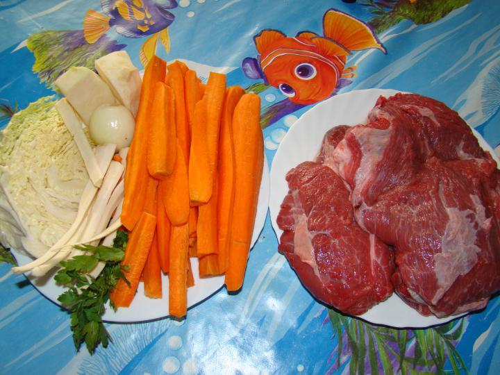 Marhahúsleves elkészítés 1. lépés képe