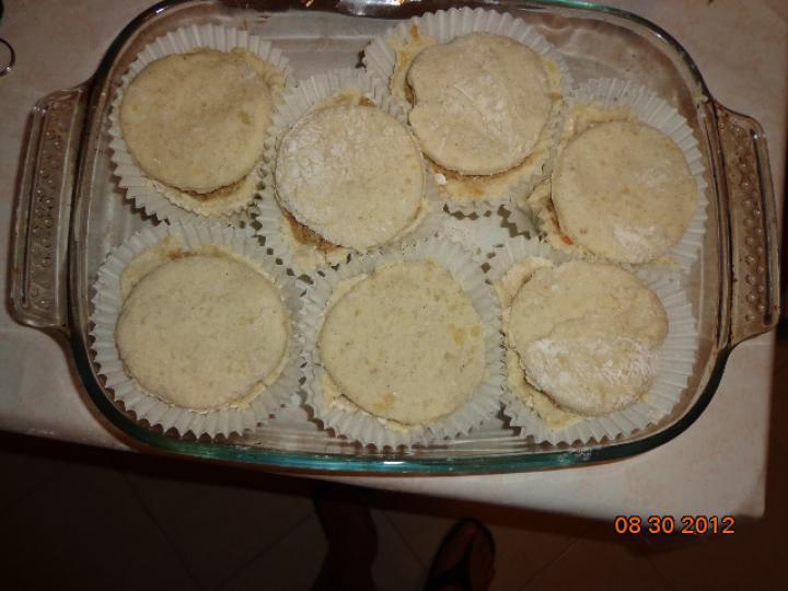 Húsos kosárka burgonyás tésztában elkészítés 2. lépés képe