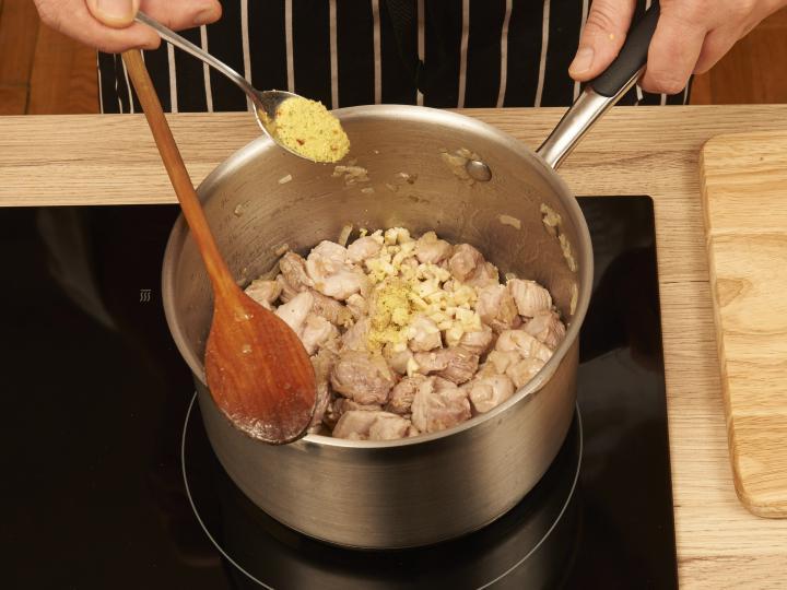 Bácskai rizses hús elkészítés 2. lépés képe