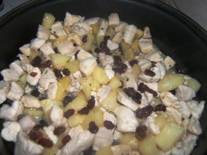 Currys-ananászos csirke tojásos rizzsel elkészítés 1. lépés képe