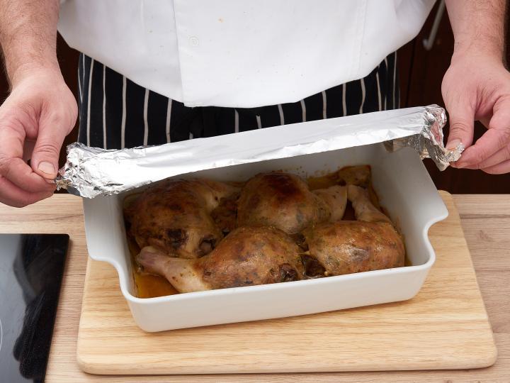 Töltött csirkecomb elkészítés 10. lépés képe