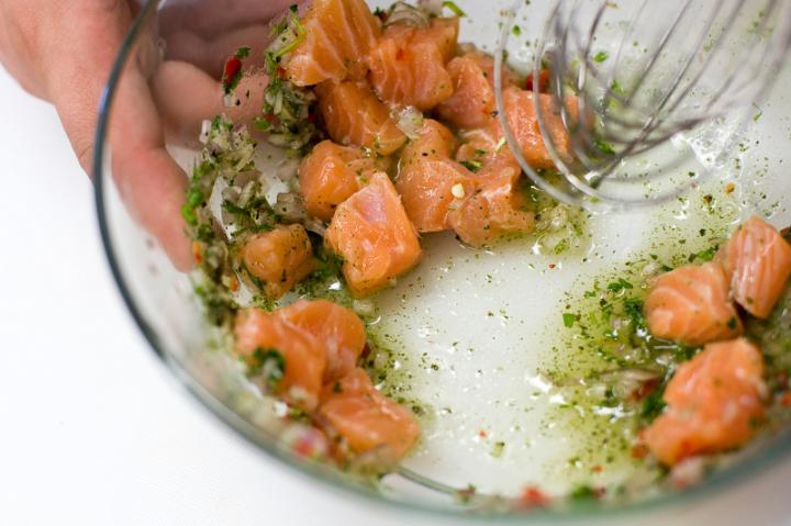 Pácolt lazac salátához elkészítés 3. lépés képe