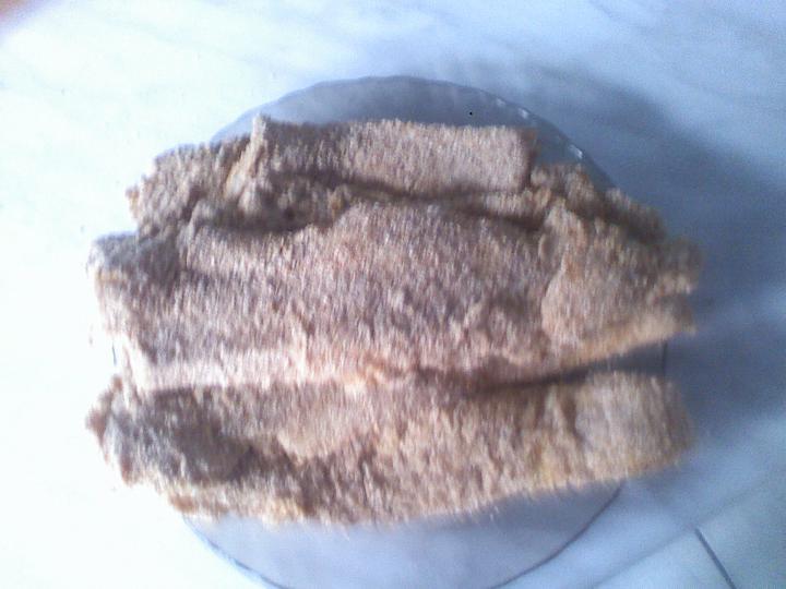 Citromos Pangasius (cápaharcsa) filé panírba öltöztetve, fűszeres burgonyával elkészítés 4. lépés képe