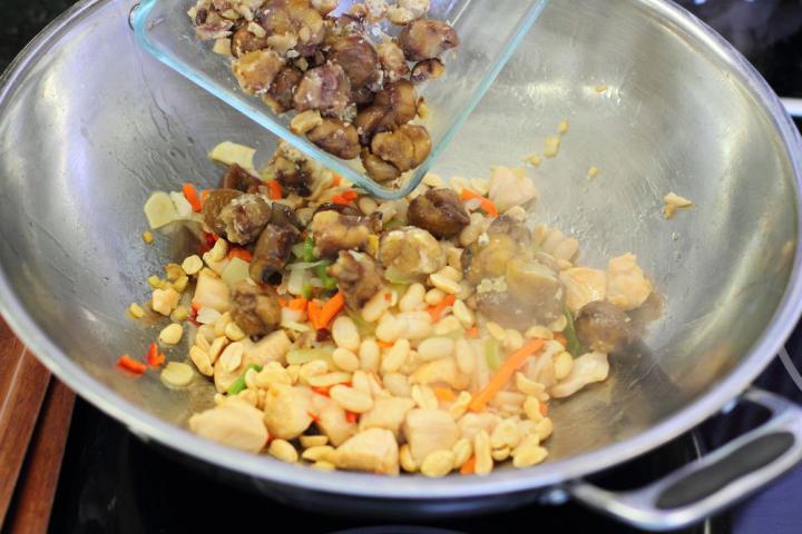 Kínai gyömbéres csirke elkészítés 3. lépés képe