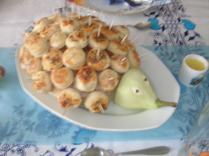 Pogácsás süni elkészítés 1. lépés képe