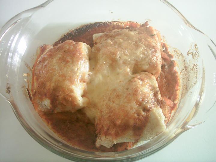 Töltött palacsinta sütőben sütve, fűszeres burgonyával elkészítés 6. lépés képe