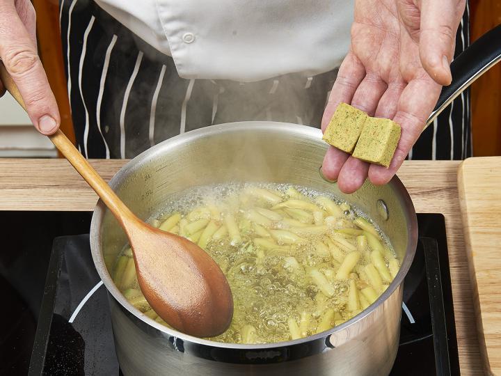 Zöldbableves elkészítés 1. lépés képe