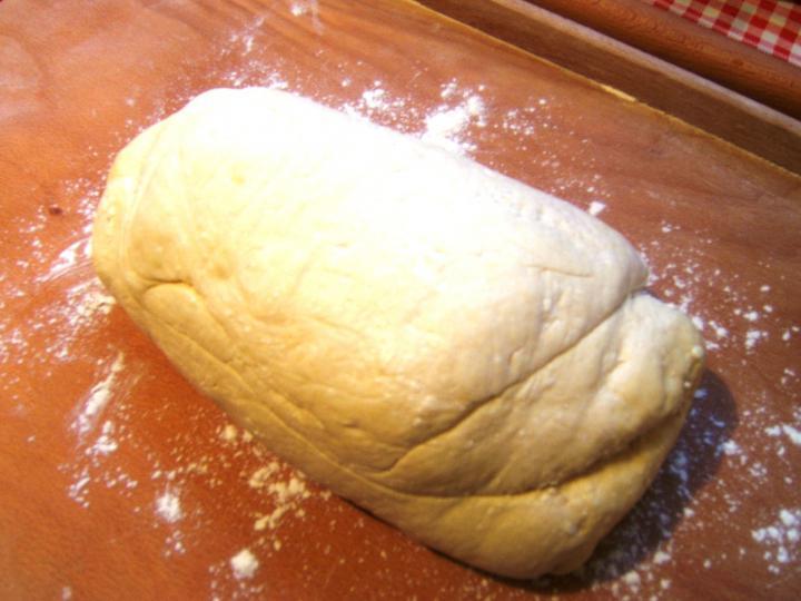 Túrós pogácsa elkészítés 4. lépés képe
