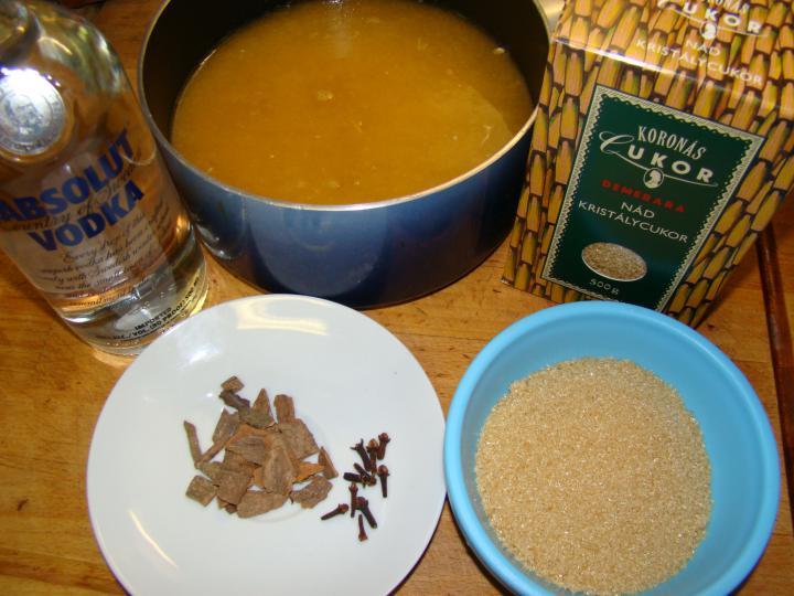 Karácsonyi narancs - mandarin likőr elkészítés 1. lépés képe