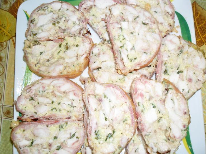 Baconös csirkemell őzgerincformában elkészítés 8. lépés képe