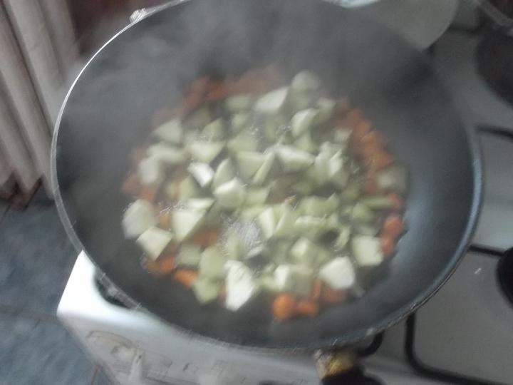 Padlizsános rizsköret elkészítés 1. lépés képe