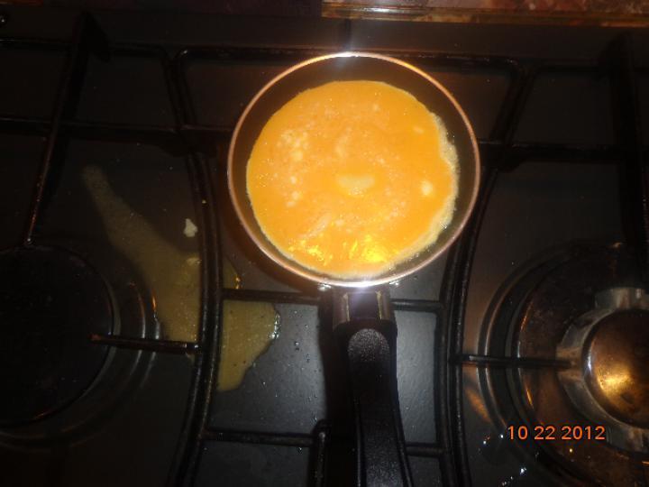 Három sajtos dupla mini omlett elkészítés 4. lépés képe