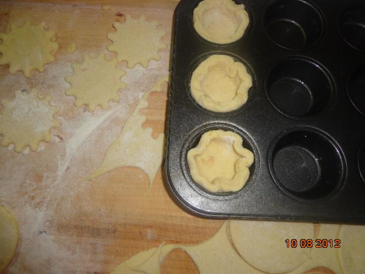 Padlizsános muffin elkészítés 4. lépés képe