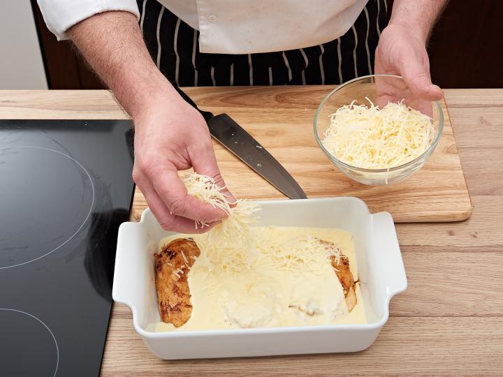 Tejszínes csirkemell sütőben elkészítés 5. lépés képe